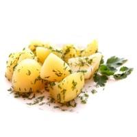 Картофель отварной с маслом и зеленью